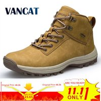 VANCAT Marke Männer Stiefel Große Größe 39-46 Herbst Winter Herren Leder Mode Turnschuhe Schnüren Outdoor Berg Männer Schuhe Wasserdichte