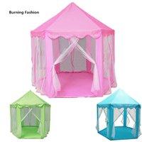 한국의 공주 육각형의 성 슈퍼 얇은 명주의 어린이의 텐트 인형 집 슈퍼 게임 룸 모기