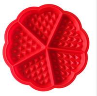 Kalp Şekli Kek Kalıp Yaratıcı Silikon Muffin Waffle Kalıp Ekmek Araçları Pişirme Pasta Araçları Silikon Kalıp