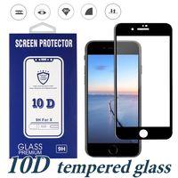 Tam Tutkal Durumda Dostu Temperli Cam Ekran Koruyucu iPhone için Yeni Modeller XS MAX XR Samsung A20 A70 A50 A20E Moto G7 Güç Oyna E5 ARTı