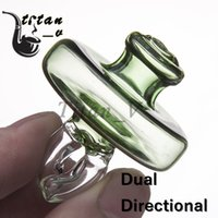Dual Directional Airflow Glass Carb Cap with Hollow Inner Tu...