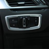 Carbon-Faser-Art-Auto-Scheinwerfer-Schalter Taste Rahmenzierabdeckung Trim Für BMW X1 F48 2016-18 X2 F39 2018 ABS Styling