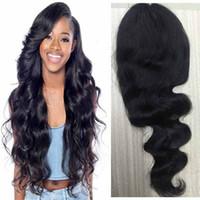 Perruque de cheveux humains avant de corps de brésilien de vague de corps de densité de 150% pour les femmes noires