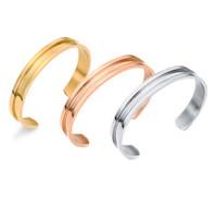 الأزياء 10 ملليمتر عرض افتتاح التيتانيوم الصلب الشعر التعادل سوار الكفة الإسورة الذهب والفضة ارتفع الذهب سوار للنساء هدية الاشتباك