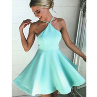 Mint Green Homecoming Dresses Sexy Simple Spaghetti Straps A...