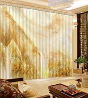 Grosshandel Chinesische Moderne Fenster Vorhang Foto 3d Vorhange Fur