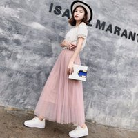Fashion Women' s Flowy Pleated Tulle Ankle Length Midi A...