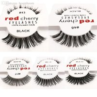 2018 Hot 15 stili CILIEGIA ROSSA Ciglia finte Naturale Ciglia lunghe Extension Extension Professionale Ciglia finte Winged False Ciglia Wispies