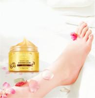 Vendita calda Bioaqua 24K oro shea buttermassage crema peeling rinnovamento maschera per il bambino piede pelle smooty care crema esfoliante maschera a piedi