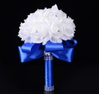 Bride holding flowers wholesale wedding foam simulation flow...