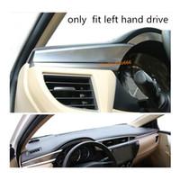Autoabdeckung Aufkleber ABS Chrom Armlehne Lagerung Handschuhfach Frontverkleidung Lampe Meter Panel Rahmen 4 Stücke für Toyota Corolla Altis 2014 2015 2016