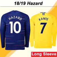 2018 19 HAZARD GIROUD Camisetas de fútbol de manga larga PEDRO MORATA KANTE  Home Away Terceras f617c3bfd3187