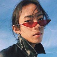 الأزياء الشعبية الرجعية خمر ضيقة صغيرة مثلث القط العين النظارات الشمسية للنساء النفوذ نظارات البلاستيك الإطار عدسة الكمبيوتر