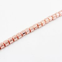 1 Strand lot Drop Shipping Rose Gold Cube Loose Beads Natura...