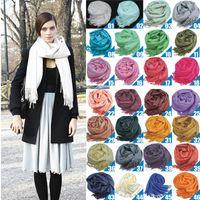 2018 großhandel 40 stücke Pashmina Kaschmir Seide Solide Schal Wrap Unisex Schal frauen Schal Reine 40 Farbe Schal