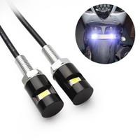 10X 꼬리 번호 번호판 램프 액세서리 나사 볼트 라이트 화이트 LED 자동차 자동차 오토바이 범용 12V SMD 5630