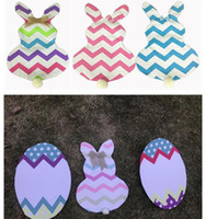 Easter Bunny Flags Striped Chevron Easter Egg Flags Rabbit H...