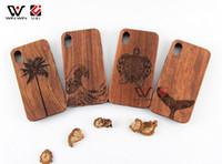 Cajas de teléfonos móviles Tallado de madera Árbol de caucho suave amortiguador amortiguador de choque elástico Scratch y protección contra la colisión para iPhone 7/8 11 12 Pro max