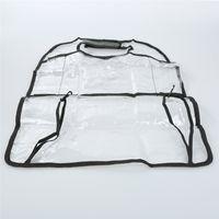 1 ADET PVC Şeffaf Oto Araba Koltuğu Organizatör Geri Koltuk Çanta Konteyner Araba Depolama Çok Cep Seyahat Çantası Anti-kirli Ped