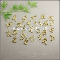 Free Shipping! 260pcs silver   gold plated Metal Alphabet Le...