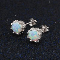 925 Sterling Silver Round Created Blue Pink White Fire Opal ...