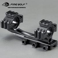25.4mm / 30mm 링 트라이 사이드 마운트 캔틸레버 더블 링 See-Through Scope Sight Fixture Fit 20mm 레일 사냥