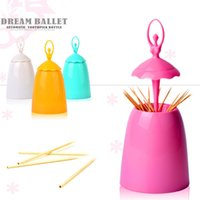 Ballet Dancer Table Decorative Toothpicks Holder Box Automat...