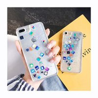 YunRT Quicksand Capinha für iPhone 7 7Plus 8 8Plus 6 6s 6Plus Dynamic Liquid Hard PC-Hülle für iPhone 7 7Plus Clear Capa ipone