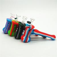 Барботер бонг трубы буровой установки силиконовые молоток барботер перколятор барботер трубы для некурящих трубы табака бонги силиконовые бонг со стеклянной чашей