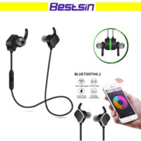 New SD- 100 Magnetic Bluetooth Earphone SweatProof Super Bass...
