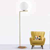Creative simple floor lamps glass ball standing lamp chrome ...