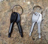 Schraubendreher Keychain Outdoor Pocket Mini Schraubendreher-Set Schlüsselanhänger mit Schlitz Phillips Hand Key-Anhänger wen6772