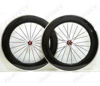 Frein de 700c Surface de frein Route Carbon Roues de carbone 88mm Profondeur 23mm Largeur de la largeur de la bicyclette Vélo Touche de carbone 3k Finition brillante