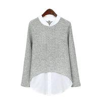 ربيع الخريف كيمونو الستر المرأة البلوزات السيدات مكتب قمصان طويلة الأكمام خليط الجسم زائد حجم 4xl 5xl النساء قمم blusas