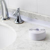 Billige ROLL PVC Material Home Küche Badezimmer Wand Dichtband Aufkleber Wasserdicht Schimmel Beweis Wandaufkleber bei Großhandel