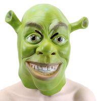 Hanzi_masks Yeşil Shrek Lateks Maskeleri Film Cosplay Prop Yetişkin Hayvan Parti Cadılar Bayramı Partisi Kostüm Fantezi Elbise için Maske