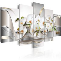Amosi Art Orchid Flowers Canvas Print Wall Art Painting Abst...