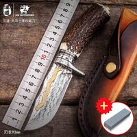 HX OUTDOORS Damascus high hardness gold antlers collection k...