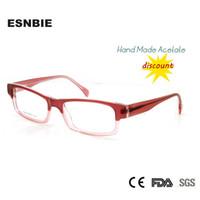 ESNBIE Designer de Armações de Óculos de Olho para As Mulheres Baratos  Feitas À Mão Prescrição 42abeeee69