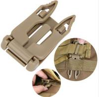 5pcs / lot قوي كليب أبازيم في الهواء الطلق بقاء EDC أداة رخوة حزام حقيبة الظهر EDC حزام ربط ربط مشبك