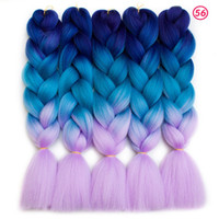 Wholesale Price Kanekalon Ombre Braiding hair synthetic Croc...