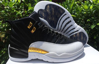 AAAAA Retros 12 Wings Hang up Black White Basketball Shoes, R...
