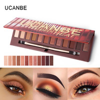 Ucanbe Brand New 12 Colori Molten Rock Calore Ombretto Palette per il trucco Shimmer Matte Nude Brown Red Warm Orange Eyeshadow Kit