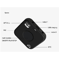 뜨거운 판매 B7 PLUS 무선 Bluetooth 오디오 수신기 어댑터 APT-X NFC CVC6.0 내장 마이크 AUX 출력