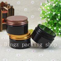 50pcs 30g mini nachfüllbar Tief dunkelbraune Kunststoff-Flaschen leer Makeup Jar Pot Reisegesichtscreme / Lotion / kosmetischer Behälter