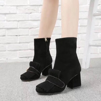 Yeni 2018 Retros Moda Lüks Tasarımcı Kadın Ayakkabı Eski Skool Ayakkabı Süperstar Marka Ayakkabı Bayan Çizmeler Kadın Uyluk Yüksek Çizmeler + KUTUSU