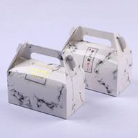 Marble Design Paper Box Chocolate Cake Party Cookies Gift Bo...