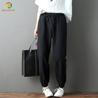 Spring Summer Women Comfortable Cotton Linen Pants Casual St...