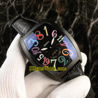 Новые сумасшедшие часы 8880 CH NR COL DRM Color Dreams PVD черный автоматический черный циферблат мужские часы кожаный ремешок ворота наручные часы