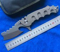 El hombre de la guerra Flipper cuchillo plegable s35vn hoja TC4 titanio mango Caza que acampa supervivencia al aire libre Cuchillos EDC Herramientas